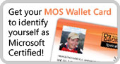 Get your Microsoft Office Specialist Wallet Card!