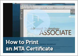 How to Print an MTA Certificate