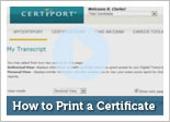 How to Print a Certificate